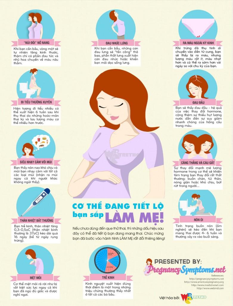 Tổng hợp những dấu hiệu mang thai thường thấy