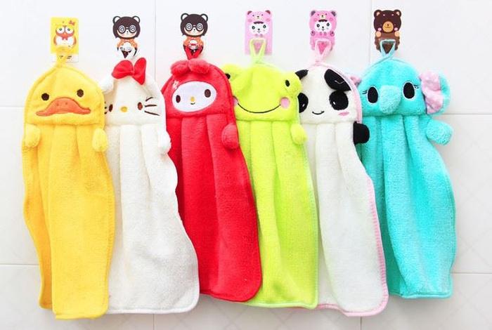 Một chiếc khăn ngộ nghĩnh sẽ là người bạn thân thiết của bé sau khi rửa tay.
