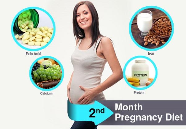 Dinh dưỡng cho bà bầu tháng thứ 8