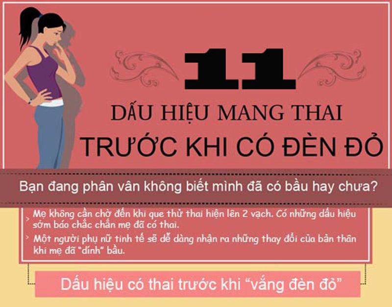 11 hiện tượng mang thai cần để ý