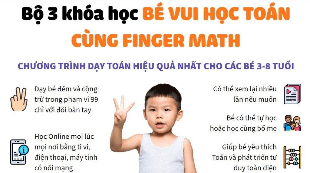 Lợi ích của bé khi học toán với Finger Math