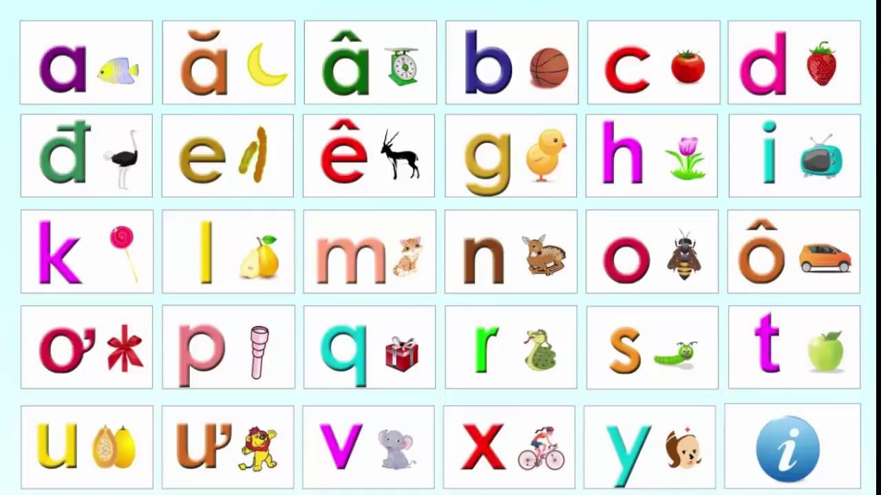 Bảng chữ cái sinh động giúp trẻ hứng thú, tập trung hơn