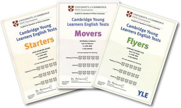 Các chứng chỉ tiếng anh của Cambridge