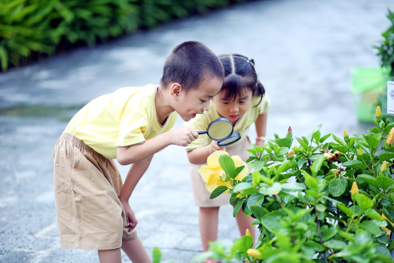 Trẻ 3 tuổi luôn thích thú khám phá thế giới xung quanh
