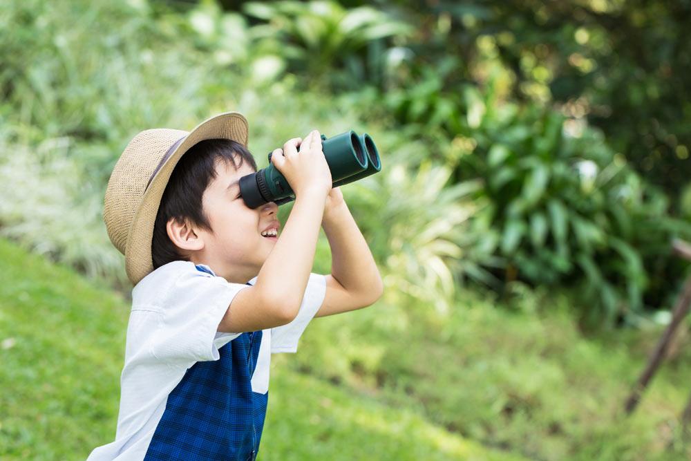 Trẻ 2 tuổi thích tìm tòi thế giới tự nhiên