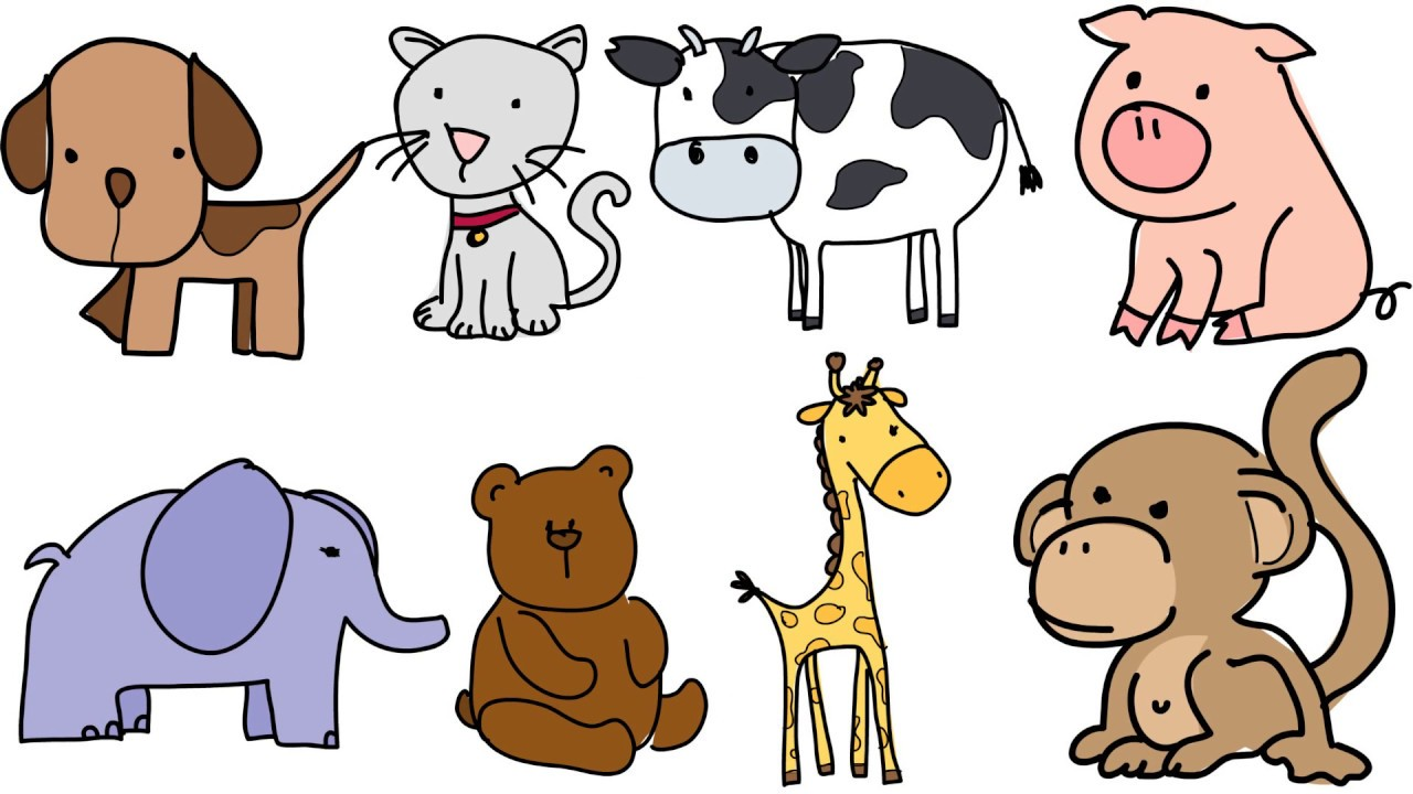 Trẻ 4 tuổi học vẽ con vật đơn giản giúp tăng khả năng phân biệt các động vật