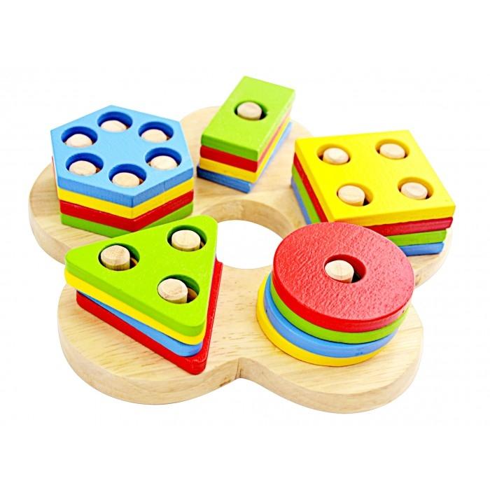 Đồ chơi lắp ghép đơn giản giúp trẻ 1 tuổi tư duy hình học, không gian