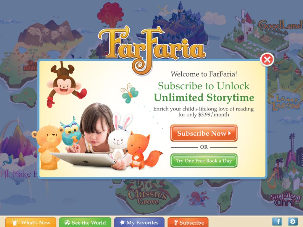Ứng dụng FarFaria được xây dựng trên nền tảng học tiếng anh qua truyện tranh sinh động