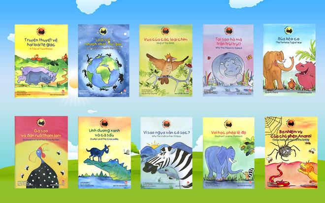 Nhiều sách truyện ngắn tiếng Anh song ngữ biên soạn riêng cho trẻ em
