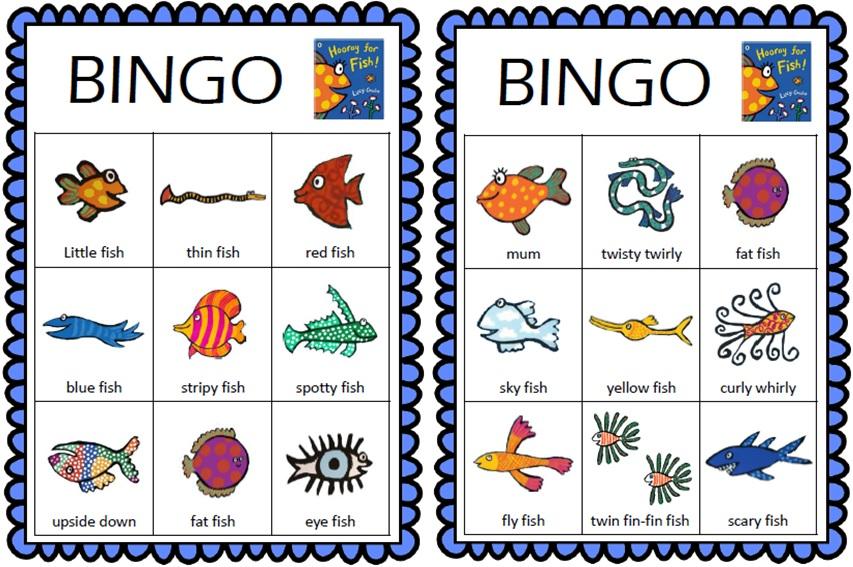Bingo là trò chơi tăng khả năng phản xạ từ vựng tiếng Anh cho bé