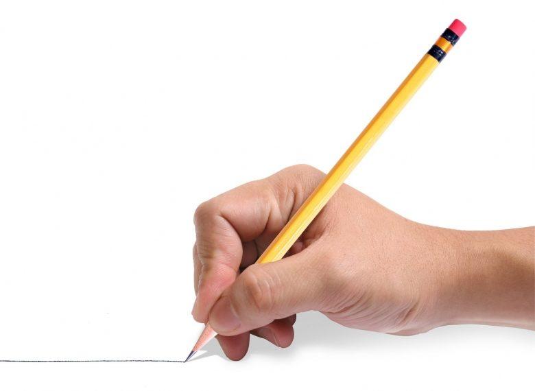 Dạy trẻ cầm bút đúng tư thế như hình minh họa