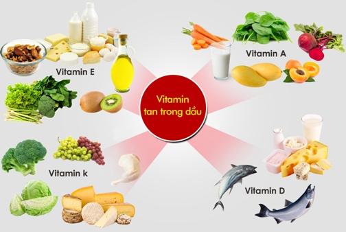Những thực phẩm chứa vitamin trong dầu