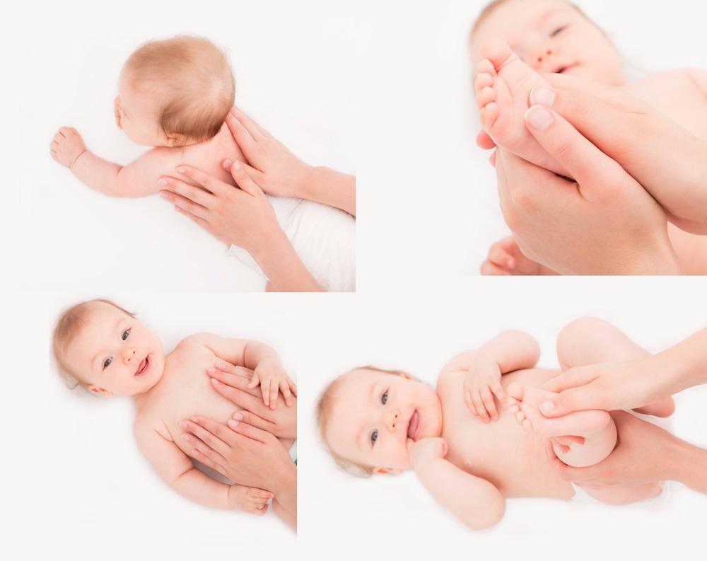 Thao tác massage nhẹ nhàng giúp bé dễ tiêu hoá, tránh táo bón, thư giãn cơ bắp và ngủ ngon hơn
