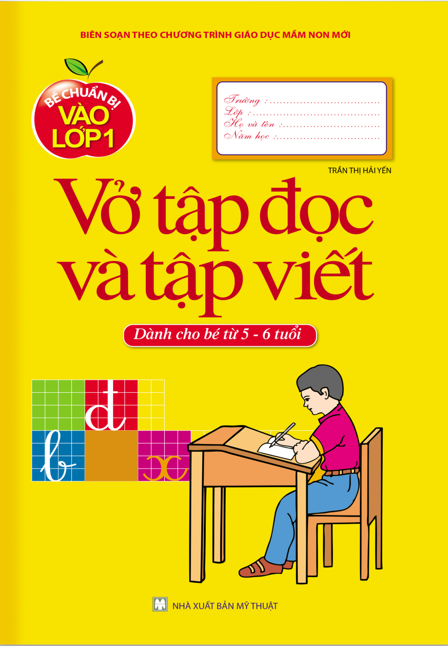 Chương trình tập đọc và tập viết được thiết kế riêng cho bé 5 - 6 tuổi chuẩn bị kỹ năng để vào lớp 1
