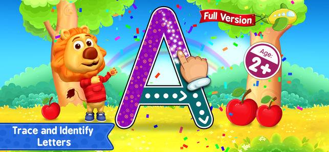 Giao diện phần mềm ABC Kids- Tracing & Phonics