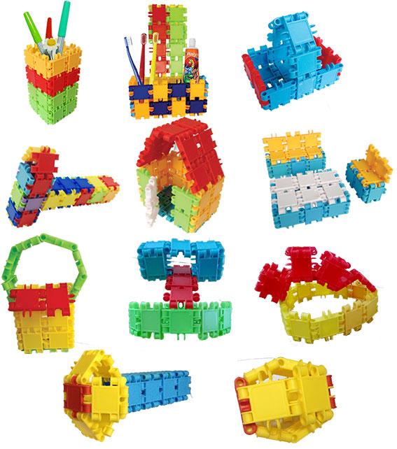 Trò chơi lắp ghép giúp bé kích thích tư duy hình khối