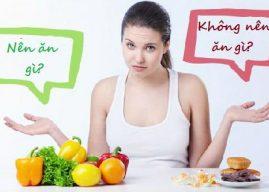 Mang thai tháng đầu nên ăn gì và không nên ăn gì?