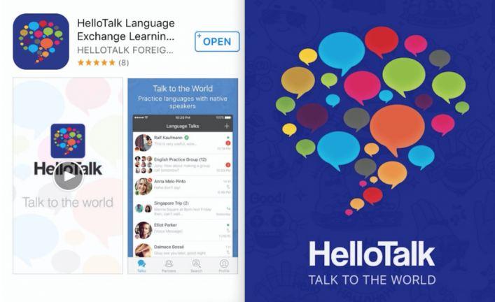 Phần mềm học tiếng anh trên điện thoại Hello Talk