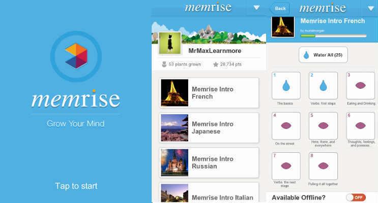 Phần mềm học tiếng anh giao tiếp miễn phí Memrise