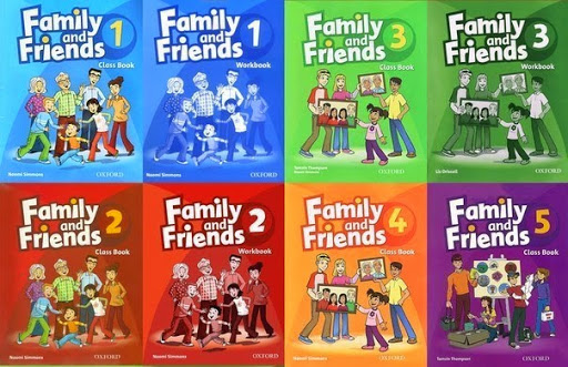 Bộ sách Family and Friends Level 1, 2, 3, 4, 5
