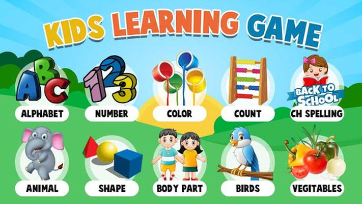 Kids Learning Game có nhiều chủ đề rất phù hợp và cần thiết đối với trẻ nhỏ