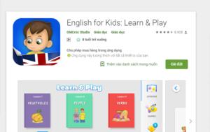 Phần mềm học tiếng anh English for Kids
