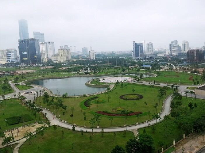 Đi chơi Tết ở Hà Nội tại công viên Cầu Giấy