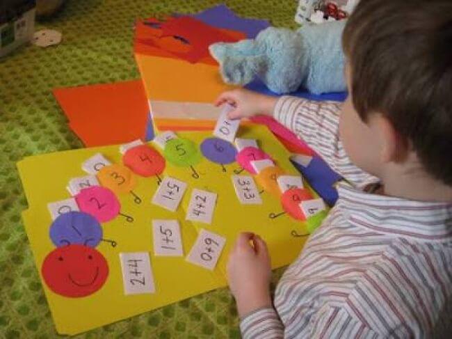 Con rết - một cách giúp bé học toán cộng trừ thú ví
