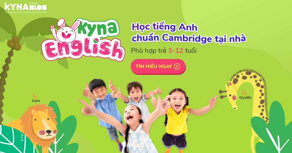 Chương trình học tiếng anh online cho trẻ tiểu học