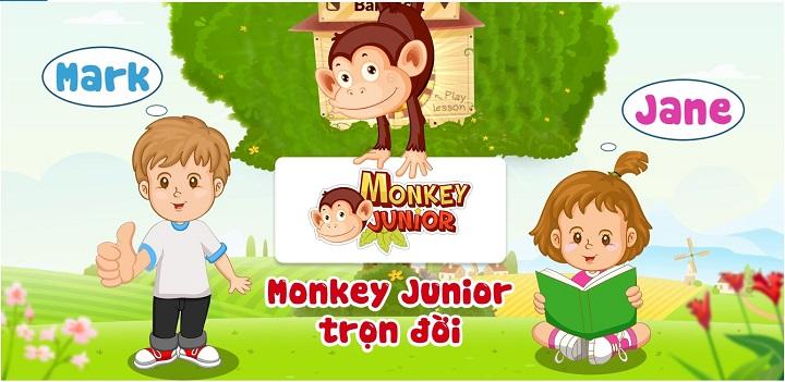 Phần mềm học tiếng anh Monkey Junior