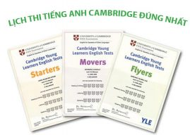 Lịch thi chứng chỉ tiếng Anh Cambridge 2020