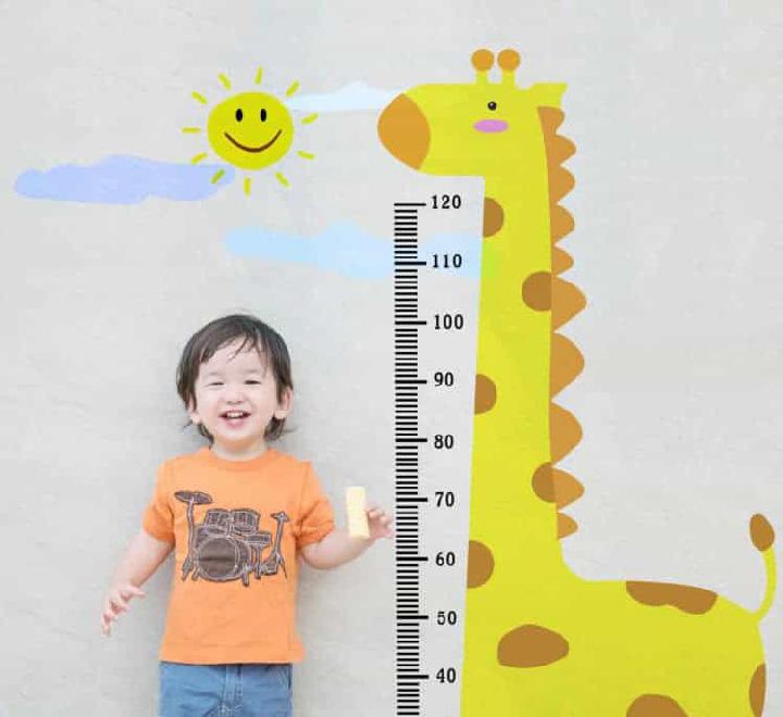bảng đo chiều cao cân nặng trẻ em