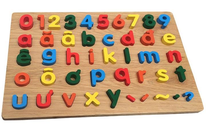 bảng gỗ đồ chơi tiếng việt