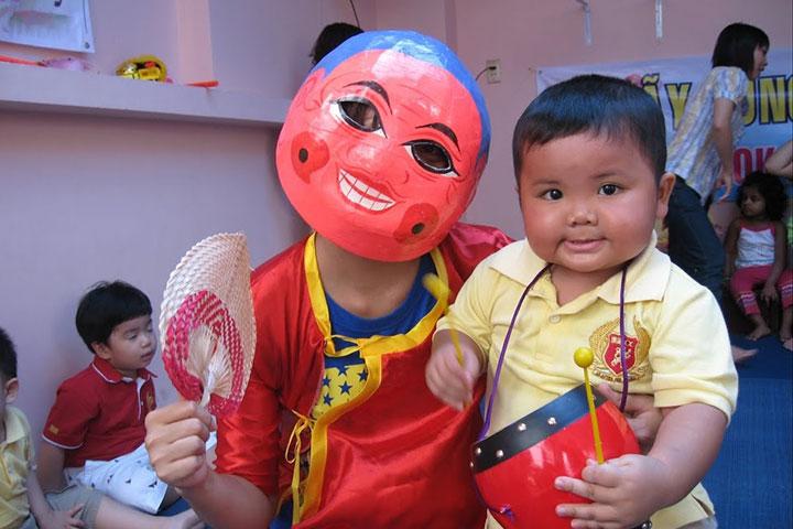 mặt nạ ông địa trung thu trẻ em