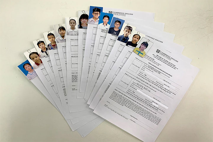 hồ sơ đăng ký thi cambridge