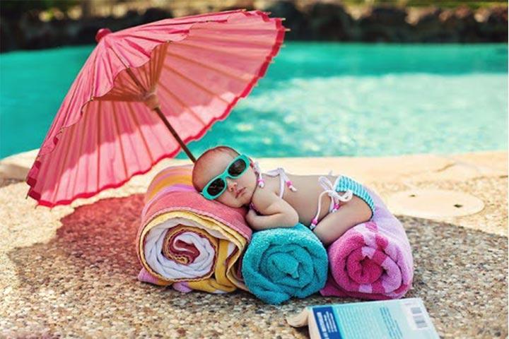 tắm nắng cho trẻ em
