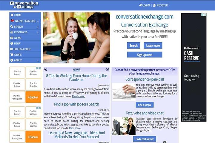 website conversation exchange