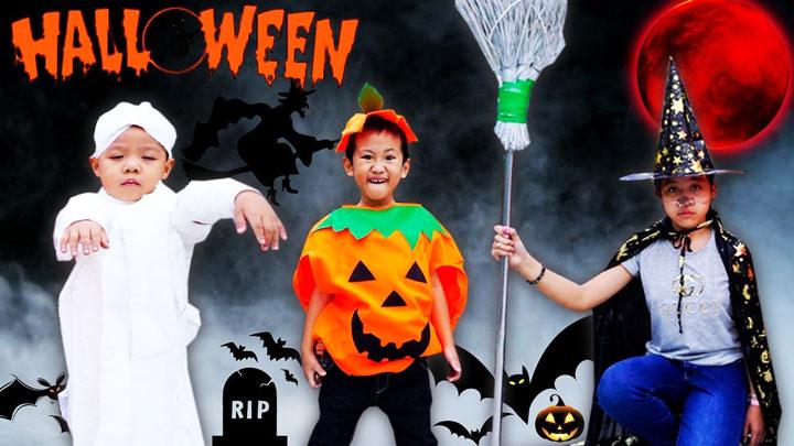 dẫn bé chơi halloween trung tâm thương mại hà nội
