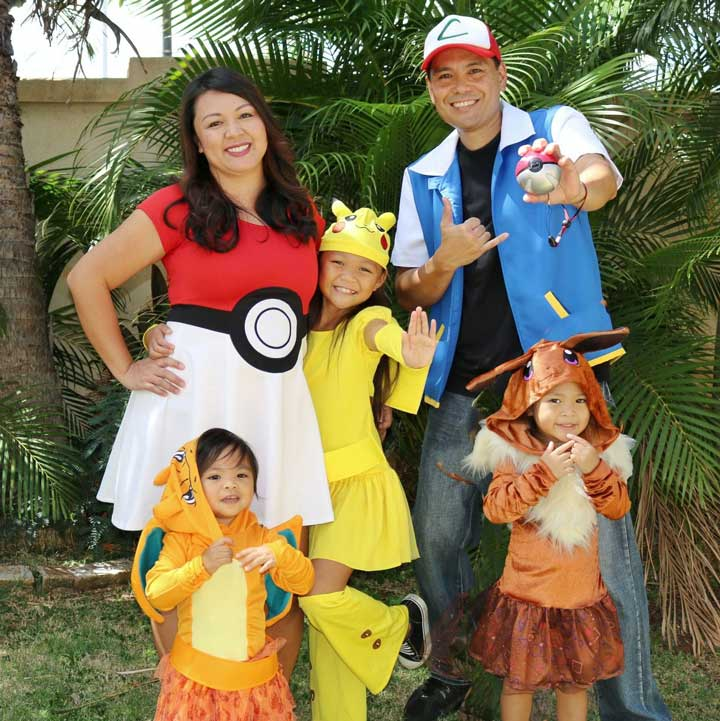 mẫu hóa trang halloween pokemon