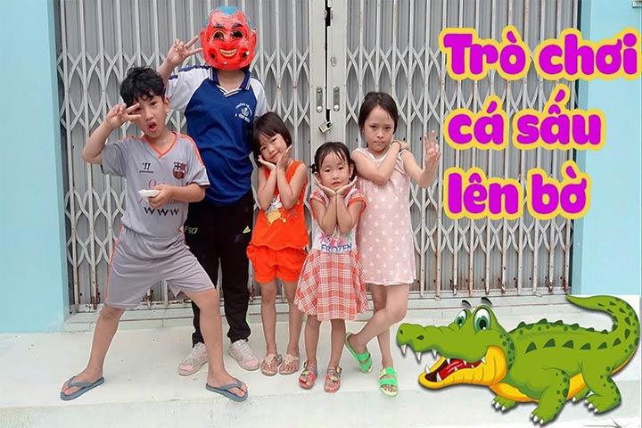 trò chơi dân gian cá sấu lên bờ