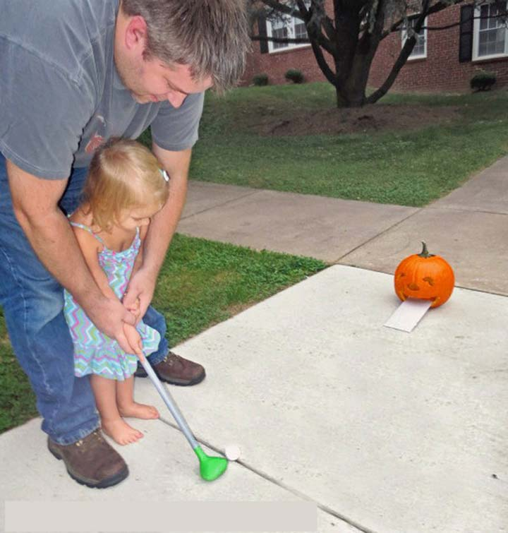 trò chơi đánh golf bí ngô halloween