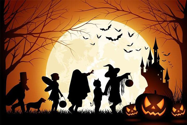 trò chơi kể chuyện halloween