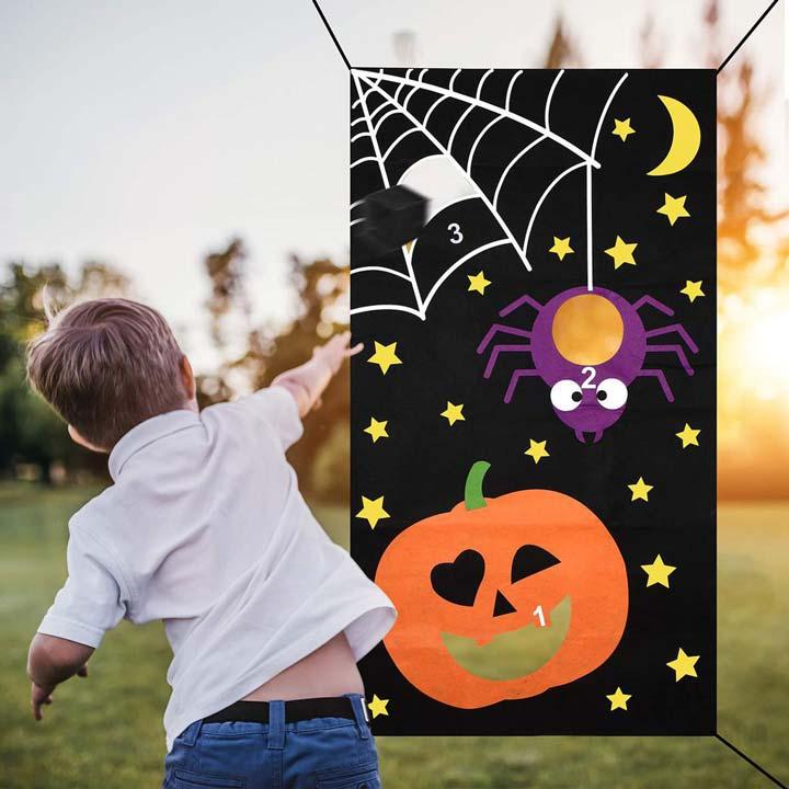trò chơi mạng nhện halloween