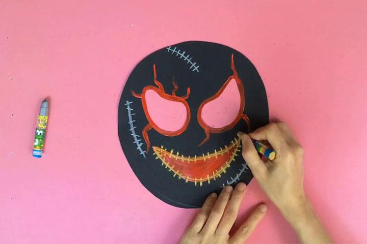 trò chơi sáng tạo mặt nạ halloween