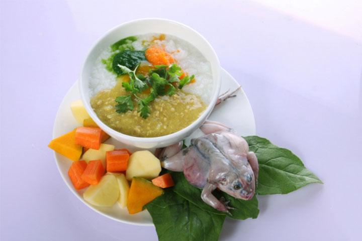 cách nấu cháo ếch cà rốt