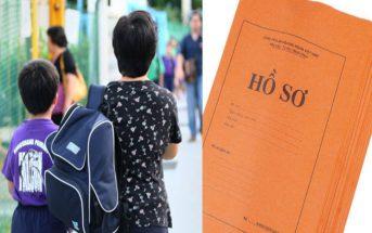 hồ sơ nhập học lớp 1 dành cho bé