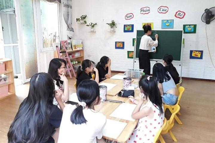 lớp học vẽ hà nội green art