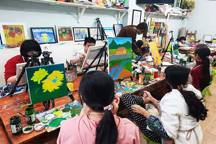 lớp học vẽ hà nội teppi art club