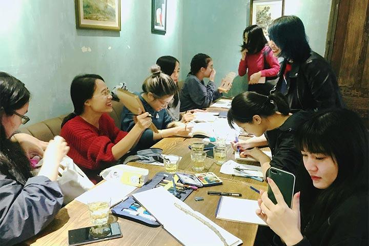 trung tâm dạy vẽ hà nội hồng xiêm
