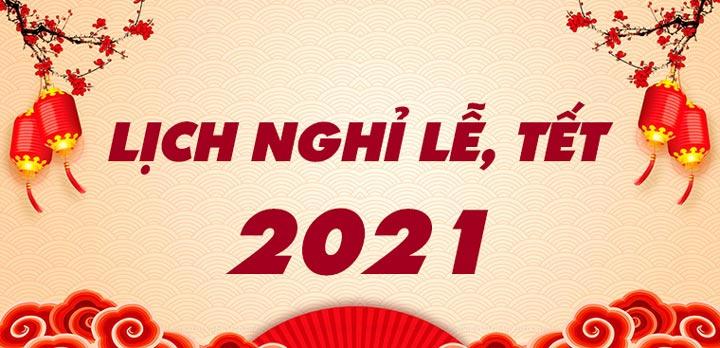 lịch nghỉ tết 2021 tân sửu
